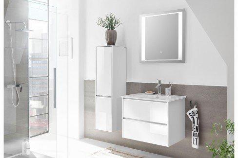 Solitaire 6040 von Pelipal - Badezimmer Glas metallic/ Eiche