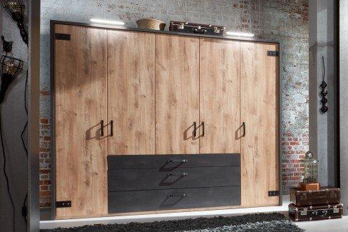 Detroit von Wimex - Schlafzimmer-Set im Industrie Stil