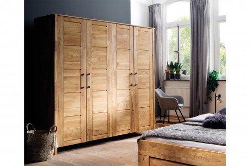 Lenni von Pure Natur - 4-teiliges Schlafzimmerset aus Wildeiche