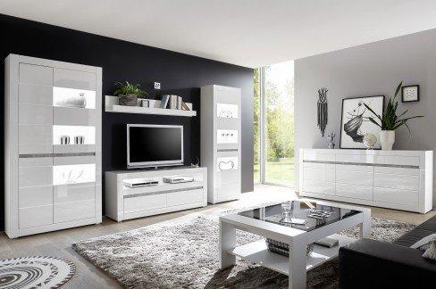 Carat von IMV Steinheim - Lowboard 7W i2 CA 32 weiß Hochglanz