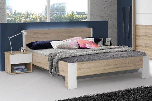 Collet von Forte - Schlafzimmer-Set Bianco Eiche - weiß