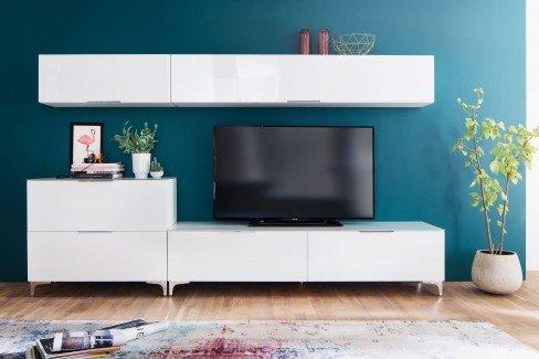 Shino von Maja Möbel - Lowboard 1130 Riviera Eiche/ Weißglas