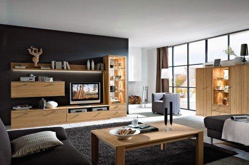rietberger m belwerke wohnwand lyon allegro 4163 eiche sand m bel letz ihr online shop. Black Bedroom Furniture Sets. Home Design Ideas
