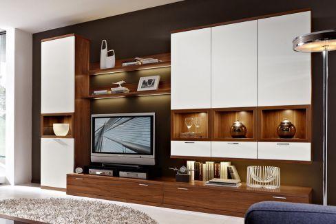 rietberger wohnwand celesta wei nussbaum m bel letz. Black Bedroom Furniture Sets. Home Design Ideas