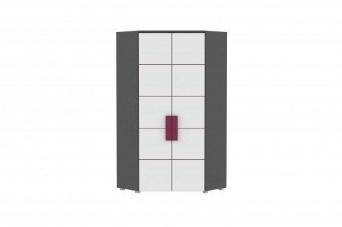 Libelle von Forte - Schubkastenkommode grau weiß pink