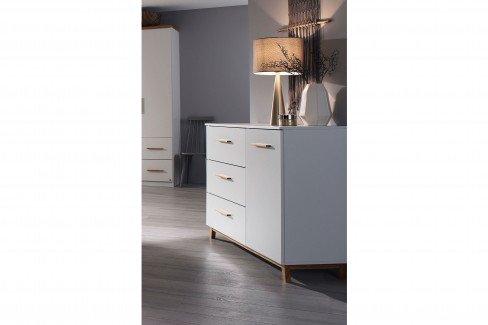 skandinavische kommode wei mit holzf en m bel letz. Black Bedroom Furniture Sets. Home Design Ideas