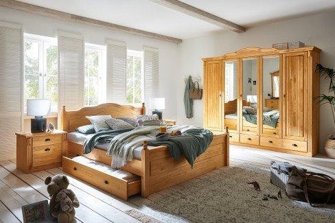 Inga von Jumek - Kleiderschrank Landhausstil weiß mit Spiegel