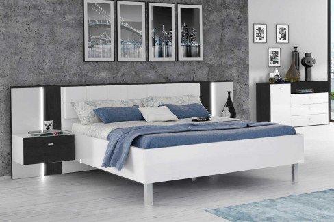 Tallis von Forte - modernes Schlafzimmer weiß - Schwarzeiche