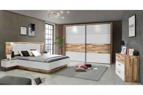 Modern Way von Forte - Bettanlage 180x200 cm mit Nachtkonsolen