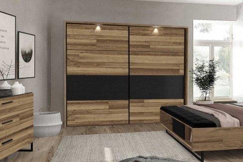 Jakobina von Forte - Schlafzimmer: Schrank & Doppelbett-Anlage