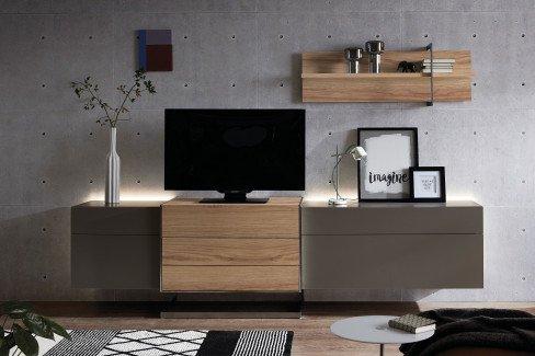 Die Hausmarke Media Design - Couchtisch polarweiß/ Wildeiche