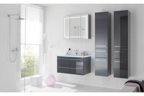 Bad 109 von LEONARDO living - Badezimmer Glas metallic