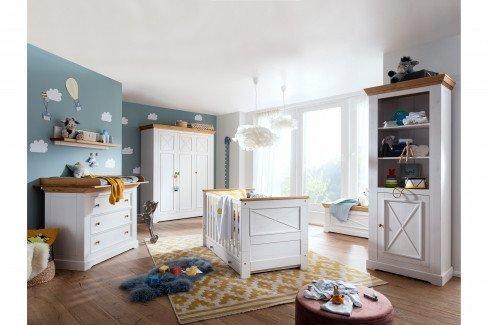 KI-0065 von GK Möbelvertrieb - Babyzimmer-Einrichtung weiß-braun