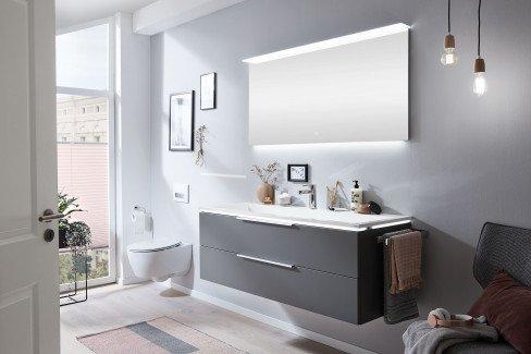 Star Line von puris - Badezimmer Polarweiß