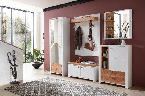 Serpio von Innostyle - Garderobe in Weiß und Wildbuche