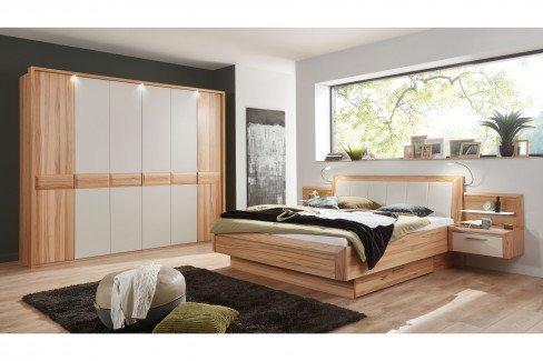 Cavalino von Disselkamp - Schlafzimmerset Balkeneiche/ Lack weiß