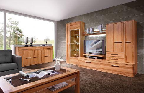 wohnwand kernbuche 4 andorra von schr der wohnm bel vorschlag 4. Black Bedroom Furniture Sets. Home Design Ideas