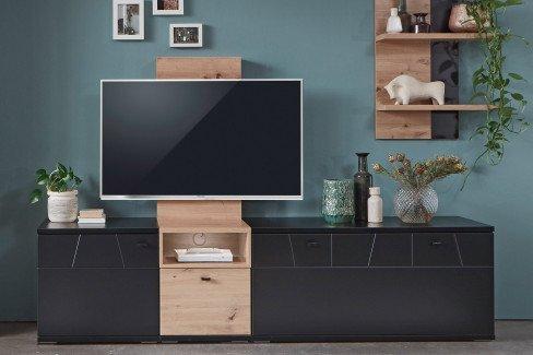 Laval von IDEAL Möbel - Paneel Eiche Artisan/ schwarz