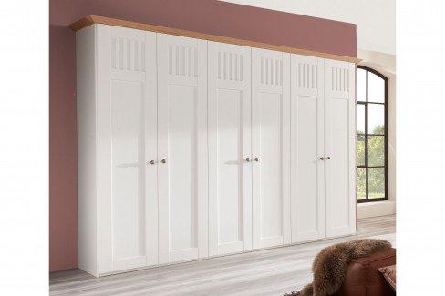 Castellino von Disselkamp - Stollenbett 140x200 cm Lack weiß