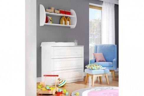 Bianco Fiori von Meblik - Kinderzimmer-Kommode in Weiß