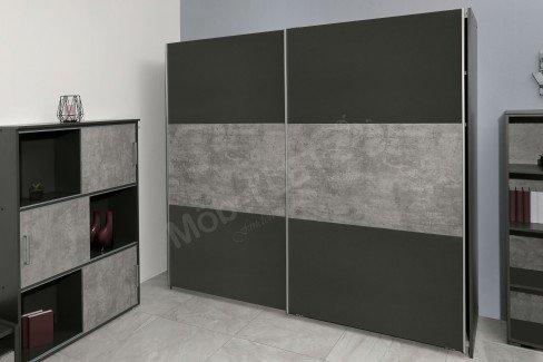 Mailo von Rauch Blue - Roll-Nachttisch weiß - stone grey