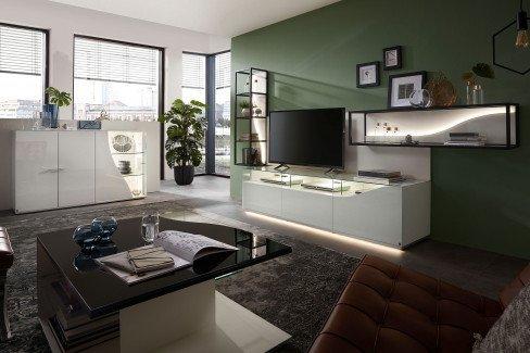 CURVE von LEONARDO living - Wandregal bianco/ weiß