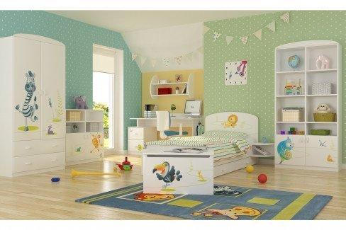 Happy Animals von Meblik - Babyzimmer-Set Zebra/ Schildkröte/ Nilpferd