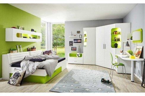 max-i von Rudolf - Jugendzimmer-Wohnwand creme grau türkis