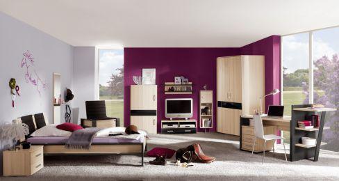 jugendzimmer change von r hr wei violett m bel letz. Black Bedroom Furniture Sets. Home Design Ideas