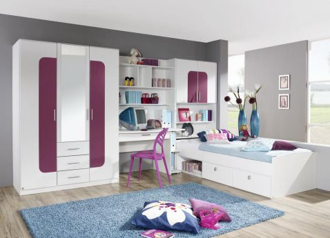 jugendzimmer utah von rauch wei aubergine m bel letz. Black Bedroom Furniture Sets. Home Design Ideas