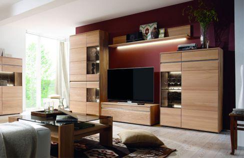 wohnwand covina v18909 aus massiver eiche casada m bel letz ihr online shop. Black Bedroom Furniture Sets. Home Design Ideas