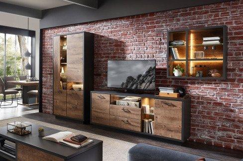 Brownsville von Wohnconcept - Highboard in Haveleiche Cognac