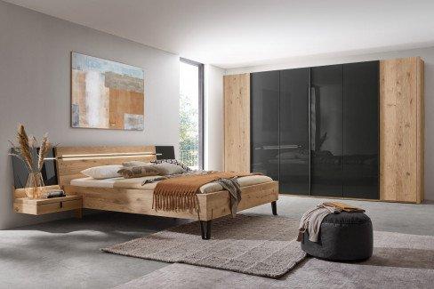 Cubo von Thielemeyer - Schlafzimmer Wildeiche - Parsolglas