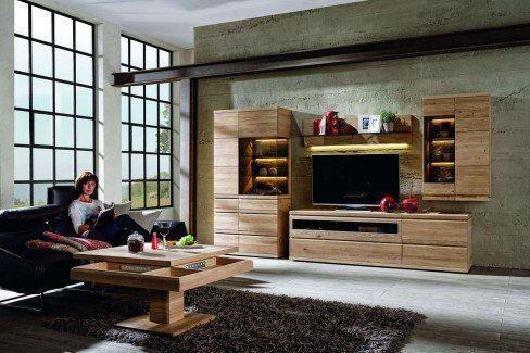 voglauer wohnwand v loft 207 wildeiche ge lt m bel letz. Black Bedroom Furniture Sets. Home Design Ideas