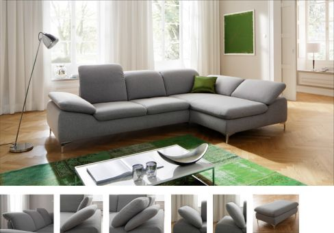 ecksofa patarra grau von candy polsterm bel m bel letz ihr online shop. Black Bedroom Furniture Sets. Home Design Ideas