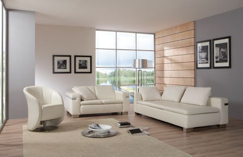pm oelsa almera echtledersofas in creme m bel letz ihr. Black Bedroom Furniture Sets. Home Design Ideas