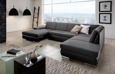 polstergarnitur vogue schwarz grau von sit more m bel letz ihr online shop. Black Bedroom Furniture Sets. Home Design Ideas