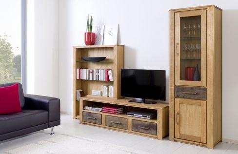 wohnwand mexican antik aus massiver kiefer mit computerschrank henke m bel m bel letz ihr. Black Bedroom Furniture Sets. Home Design Ideas