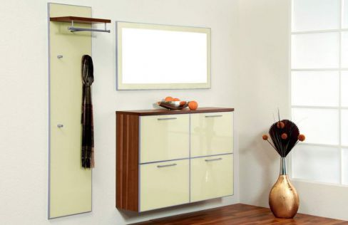 garderobe ventura set 3 nussbaum elfenbein von voss m bel letz ihr online shop. Black Bedroom Furniture Sets. Home Design Ideas