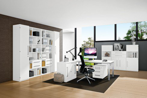 r hr techno schreibtisch wei m bel letz ihr online shop. Black Bedroom Furniture Sets. Home Design Ideas