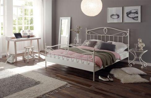 hasena romantic lurano metallbett wei m bel letz ihr. Black Bedroom Furniture Sets. Home Design Ideas