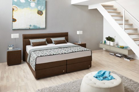 boxspringbett veronesse von ruf in braun m bel letz ihr online shop. Black Bedroom Furniture Sets. Home Design Ideas