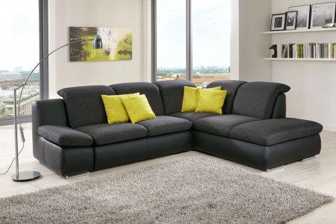 ecksofa z rich anthrazit schwarz von poco m bel letz ihr online shop. Black Bedroom Furniture Sets. Home Design Ideas