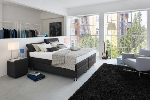 boxspringbett ruf betten modell veronesse mit. Black Bedroom Furniture Sets. Home Design Ideas