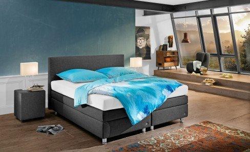 ruf betten verena boxspringbett in grau m bel letz ihr online shop. Black Bedroom Furniture Sets. Home Design Ideas