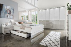Shanghai 2 von Wiemann - Schlafzimmer weiß - grau
