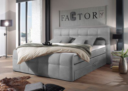 Sacramento von Black Red White - Boxspringbett mit Bettkasten