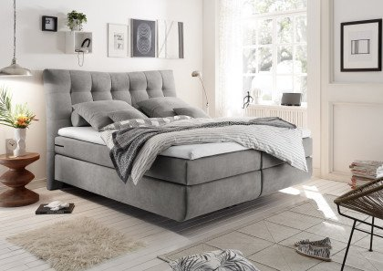 Malibu 1 von Black Red White - Boxspringbett 180 light grey