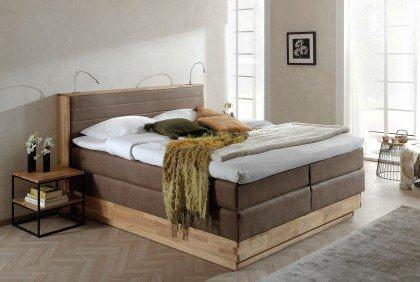 Moneta von COTTA - Boxspringbett 180 brown mit Bettkasten