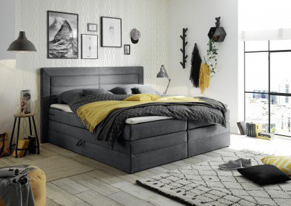 Saba 2 von Black Red White - Boxspringbett dark-grey